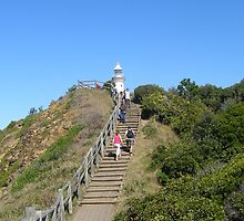 The climb up to famous Lighthouse! Byron Bay. by Rita Blom