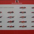 Galleria Ferrari F1 Champions Poster by Igor Pozdnyakov