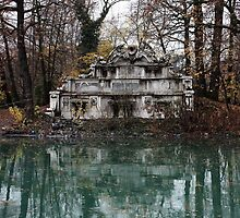 Parma. Fountain of Trianon on an Island in a Pond in the Parco Ducale, Italy 2009 by Igor Pozdnyakov