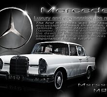 Mercedes Poster by SuperSprayer