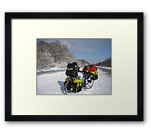 January: Snowstorm-Carbondale, IL Framed Print