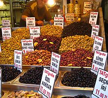 June: Olives in the bazaar - Istanbul, Turkey by cyclenavigator