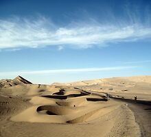 October: Desert at 10,000 feet - Qinghai, China by cyclenavigator