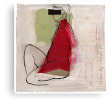 woman profile Canvas Print