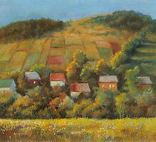 Sunny evening in Carpathian foothills by Vera Kalinovska