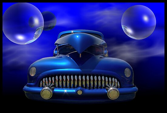 """The Big Blue Bubble"" 1941 Chevrolet Cusom Hot Rod by TeeMack"