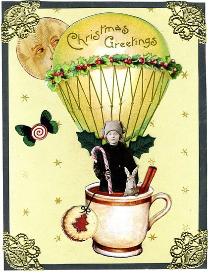 Christmas Balloon Card by WinonaCookie