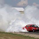 little car+V8=whole lotta smoke by dmaxwell