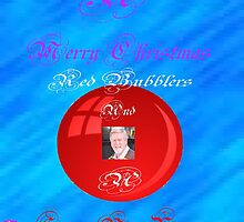 A Merry Christmas Red Bubblers by Alex Gardiner