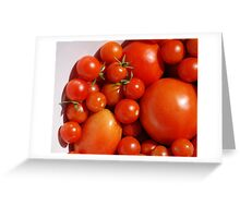 Tomatoes in White Bowl  Greeting Card