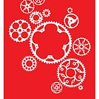 Meshing Gears (red) by Xander Ashwell