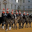Blues and Royals at Horseguards by Mark Chapman
