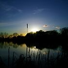 Bitterwell lake at sunset by AngiNelson