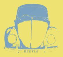 VW Beetle Shirt -  Light Blue Kids Clothes