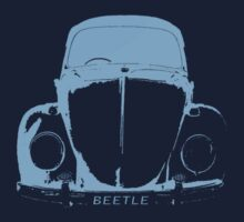 VW Beetle Shirt -  Light Blue by melodyart