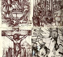 Sketchbook #2  ( Hell's Kitchen, Guillotine Alley, I'm Not Of This Earth, Pinocchio's Murder ) by John Dicandia  ( JinnDoW )