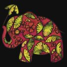 Umbrellaphant Raspberry Splice by Karin  Taylor