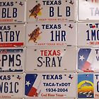 Texas License Plates by Susan Russell