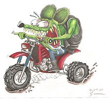 Rat Fink on a 3 wheeler by JimmyJack
