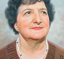 "John Allsopp's mother ""Doreen"" Oil on canvas portrait. by allspp"