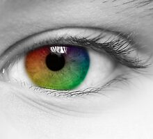 Macro Multi Colour Eye by karfarzel