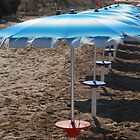 Row of Beach Umbrellas  by jojobob