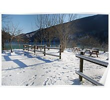 Picnic Area in Snow  Poster