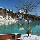 Lakeside Bench in Snow  by jojobob