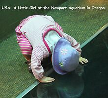 USA: A Little Girl at the Newport Aquarium in Oregon by Laurel Talabere