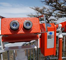 Two Viewing Binoculars at Mount Fuji  by jojobob