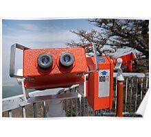 Two Viewing Binoculars at Mount Fuji  Poster