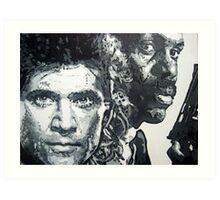 Lethal weapon iconic piece by artist Debbie Boyle - db artstudio Art Print