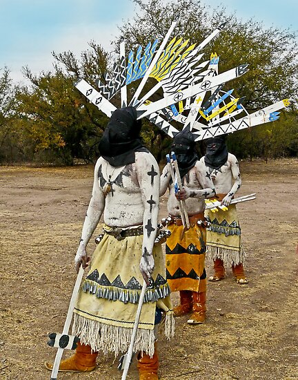 Apache Gaan Dancers by Linda Sparks