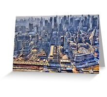 Early Morning Over New York City Greeting Card
