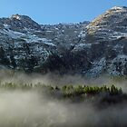 Mountainside at St. Moritz  by Mike Donovan