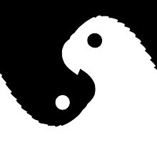Yinyang Parrots Figure-Ground Reversal by Michelle Lyon