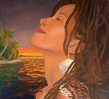 Tchiya, Rasta Goddess by Lowell Smith