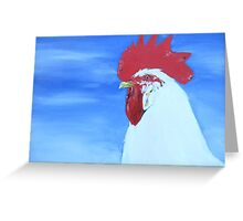 White Leghorn Greeting Card