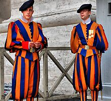 Papal Swiss Guards by andreisky