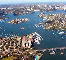 Aerial view of Sydney, Australia by Deb22