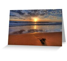 Alone Again Naturally  - Newport Beach, Sydney - The HDR Experience Greeting Card