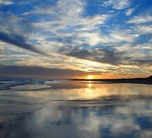 Redhead Beach Sunset by Bev Woodman