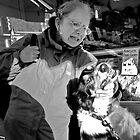 Dog V's Woman, Crwys Road Butchers, Cardiff. by ajcronin