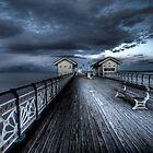 Dusk On The C19th Pier in Penarth, Wales by ajcronin