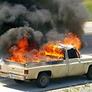 Truck in FLAMES! by kellimays