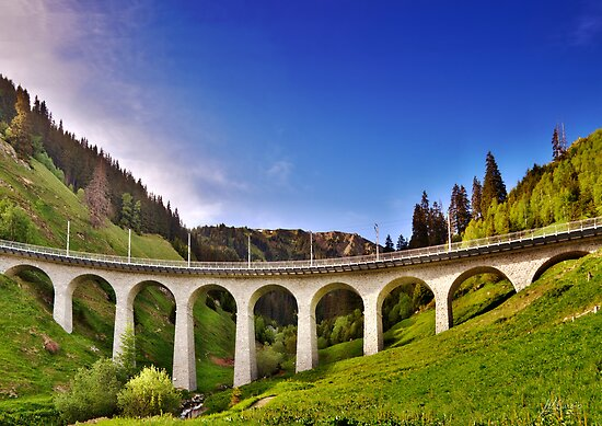 Alpine Railway Bridge by Mario Curcio