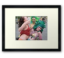 Three Mermaids Framed Print