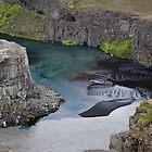Silt in Jökulsá á Fjöllum River, Jökulsá Canyon, Iceland by hinomaru