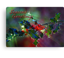 Seasons Greetings..... Canvas Print