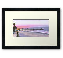 """"""" Folly Beach Pier """" Folly Beach SC USA Framed Print"""